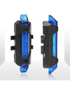 Мигалка задняя, стоп, мини, зарядка от USB 4 режима, RAPID X, 15 люмен синий