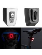 Мигалка задняя, стоп, мини, зарядка от USB 5 режимов, крепление на шлем, крепление на одежду, T11-15LED