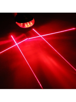 Задняя мигалка с лазерными дорожками, стоп + лазерная дорожка НЛО 4 лазера