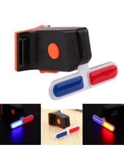 """Фонарь велосипедный X2 """"STOP"""" (красный+синий) аккум. Li-ion, micro USB"""