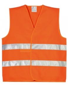 Жилет светоотражающий, жилет со светоотражающей лентой, жилет безопасности, оранжевый