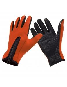 Перчатки теплые неопрен WindStopper сенсор, оранжевые