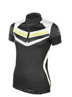 Велофутболка женская Crivit sport черная короткий рукав 272620