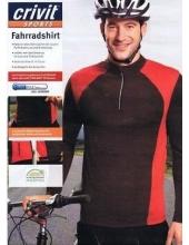 Велофутболка длинный рукав Crivit sport черный/красный, модель 49581