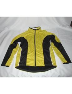 Термо куртка Crivit, термик на флисе желто-черный, 5 карманов, под рюкзак, модель 52058
