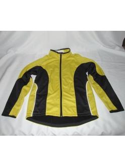 Термо куртка Crivit, термик на флисе желто-черный, 5 карманов, под рюкзак