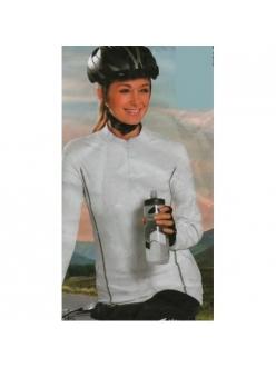 Велофутболка женская длинный рукав Crivit sport белая, модель 64311