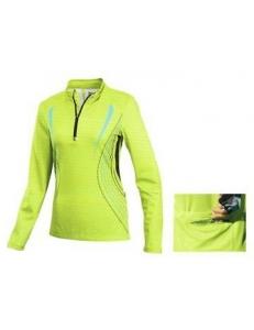 Велофутболка женская длинный рукав Crivit sport салатовая, модель 89256