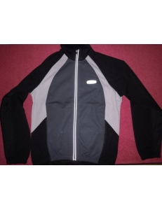 Термо куртка Shamp, термик на флисе серо-черный, синий-черный