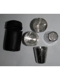 Набор стопок нержавейка в чехле (30 мл 4 шт.)