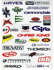 Наклейки с логотипами велосипедных торговых марок II HAEYS