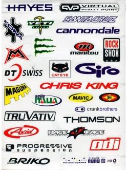 Наклейки с логотипами велосипедных торговых марок II