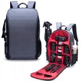 Фоторюкзак большой + дождевик, сумка фото рюкзак, серый (030001)