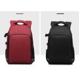 Фоторюкзак большой + дождевик 2021, сумка фото рюкзак, красный, черный
