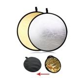 Фото отражатель, рефлектор, лайт-диск круглый 2 в 1, 110 см