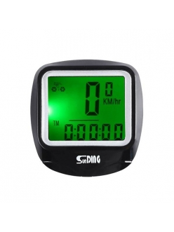 Велокомпьютер SD-568 с подсветкой, температура, 23 функции