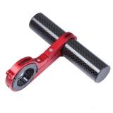 Держатель велокомпьютера, красное, для руля 25.4 / 31.8 мм, карбон