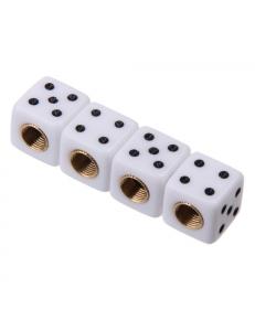 Колпачок на ниппель игральные кости, белые