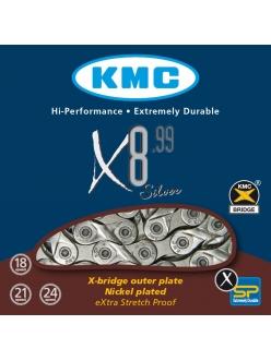 Велосипедная цепь KMC X8.99 / Ланцюг,цепь KMC X8-99 (замок в комплекті) 8 ск