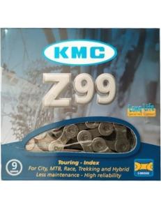 "Велосипедная цепь KMC Z99 НА 9 скоростей 116 звеньев 1/2"" X 11/128"" + замок"
