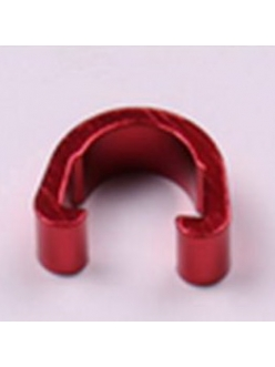 Клипсы C-Clip, алюминий, для гидролиний, рубашек, красный