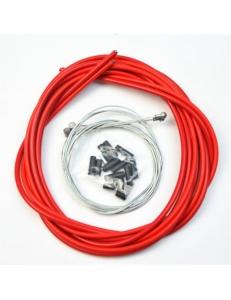 Комплект тросиков / рубашек Jagwire CEX/LEX, тормоза + переключатели, красный
