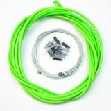 Комплект тросиков / рубашек Jagwire CEX/LEX, тормоза + переключатели, зеленый
