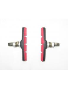 Тормозные колодки MTB Alhonga красные V-brake