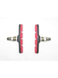 Тормозные колодки, MTB, Alhonga, красные, V-brake