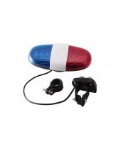 Фонарь велосипедный XC-325B (красный+синий), сирена